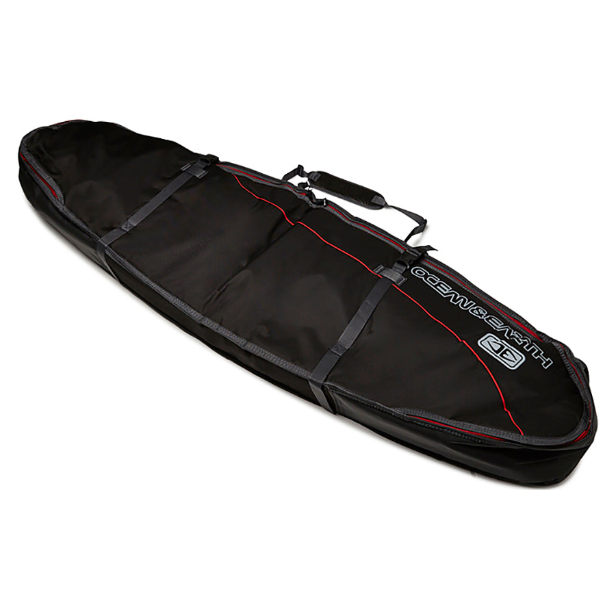 Ocean & Earth Double Coffin Shortboard Board Cover - Black/Red