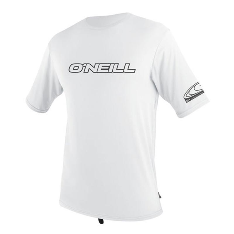 Oneill Skins S/S Crew Rash shirt - Mens White Black