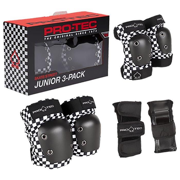 Protec Street Gear - 3 Pack Junior Small Checkered
