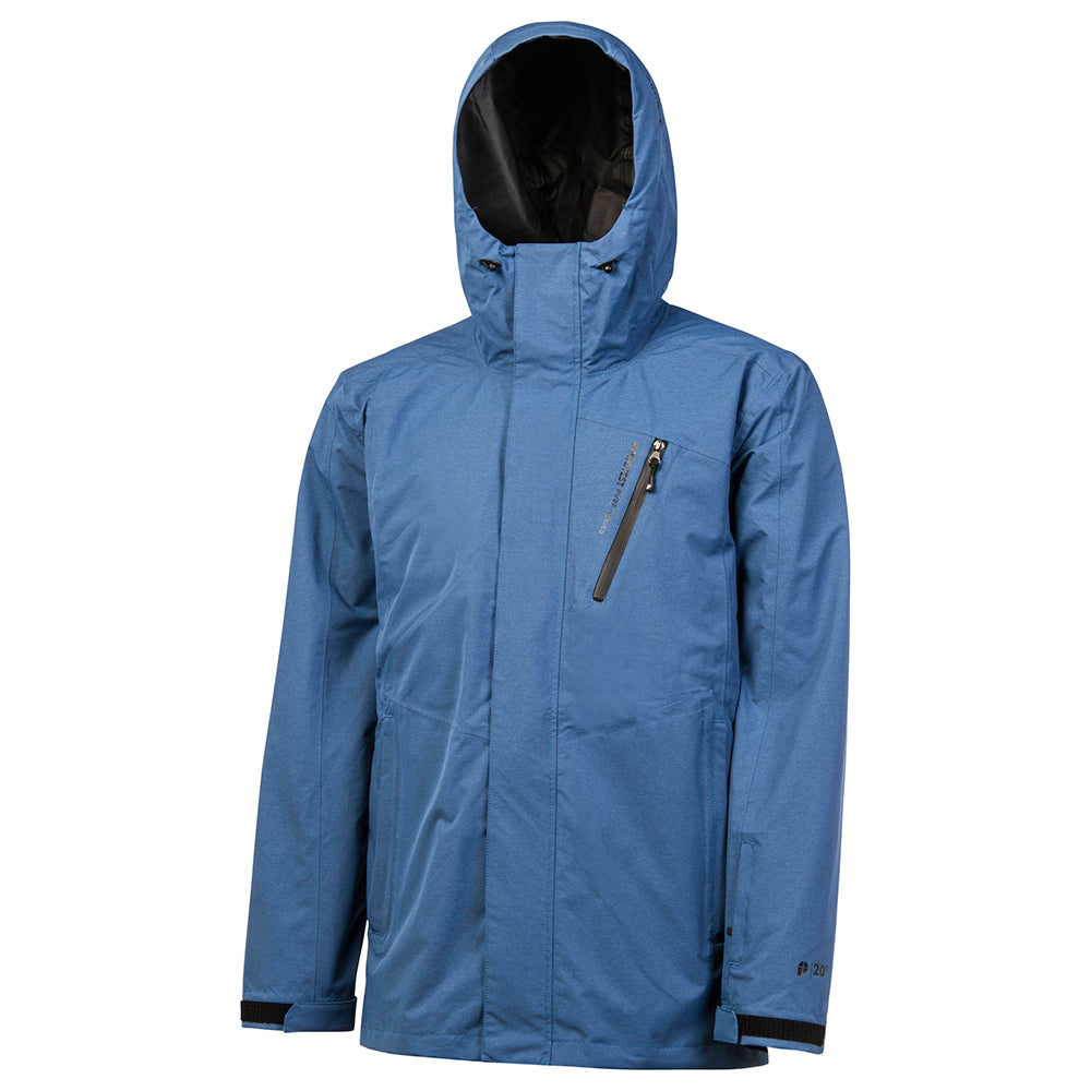 Protest Beacon Shell Mens Snow Jacket - Blue Gas