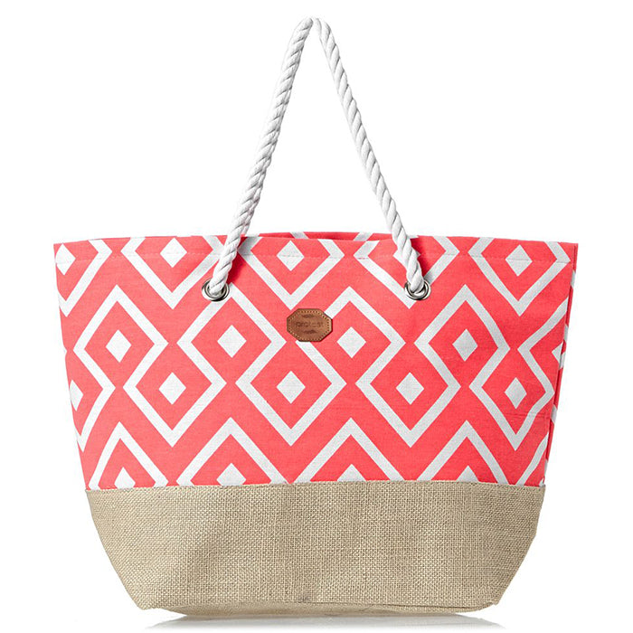 Protest Chalk Beach Bag - Pink Flirt