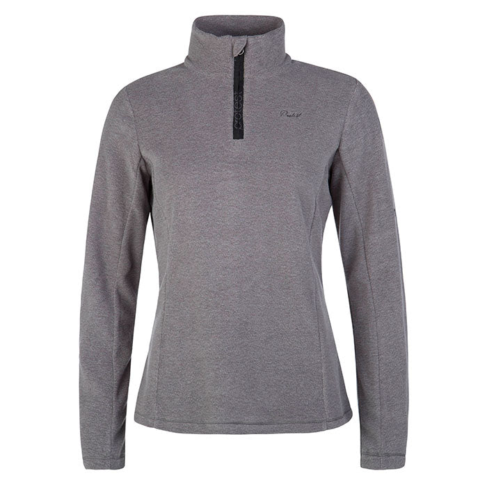 Protest Muteym 1/4 Zip Top Womens - Dark Grey