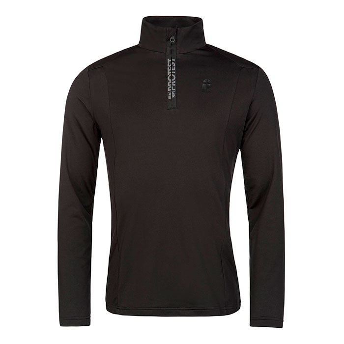 Protest Willowy 1/4 Zip Top Mens - True Black