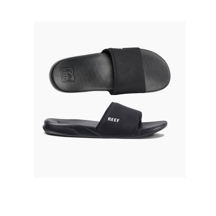 Reef One Slide Sandal - Mens - Black