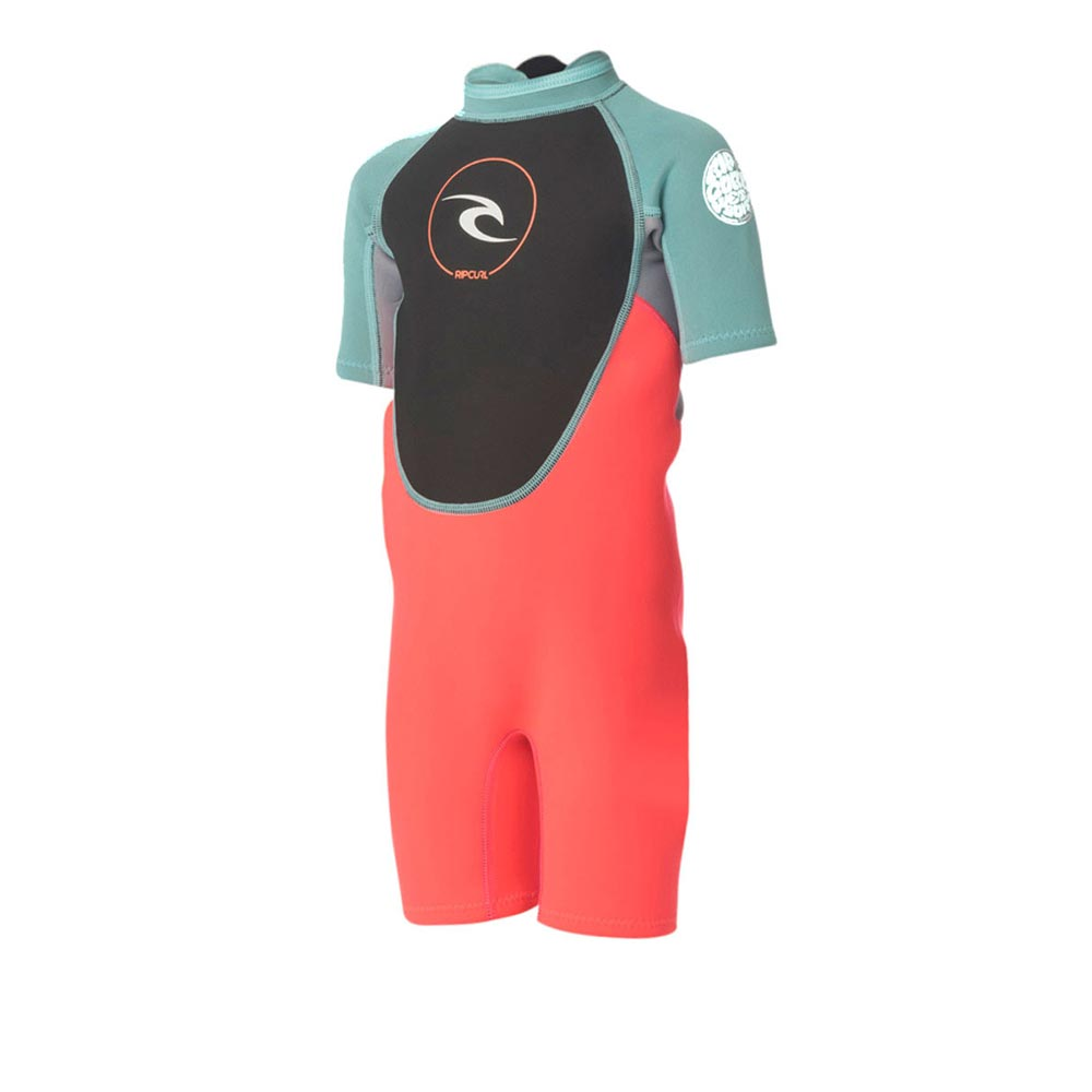 Rip Curl Jnr Dawn Patrol S/S Spring - Turquoise