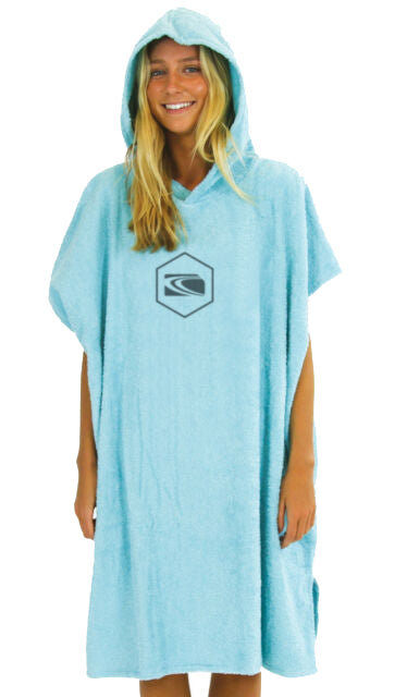 Carve Radiator Beach Poncho Towel ADULT - Aqua