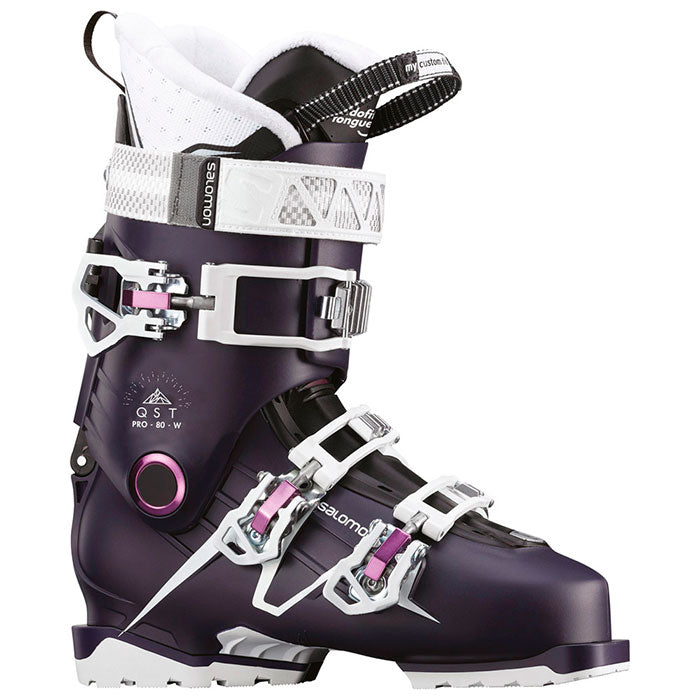 Salomon QST Pro 80 Ski Boots Womens Eggplant/Purple/White
