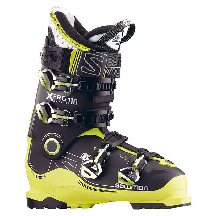 Salomon X Pro 110 Ski Boot Mens Black Acid Green
