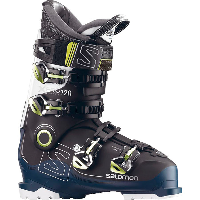 Salomon X Pro 120 Mens Ski Boot - Black/Petrol Blue/White