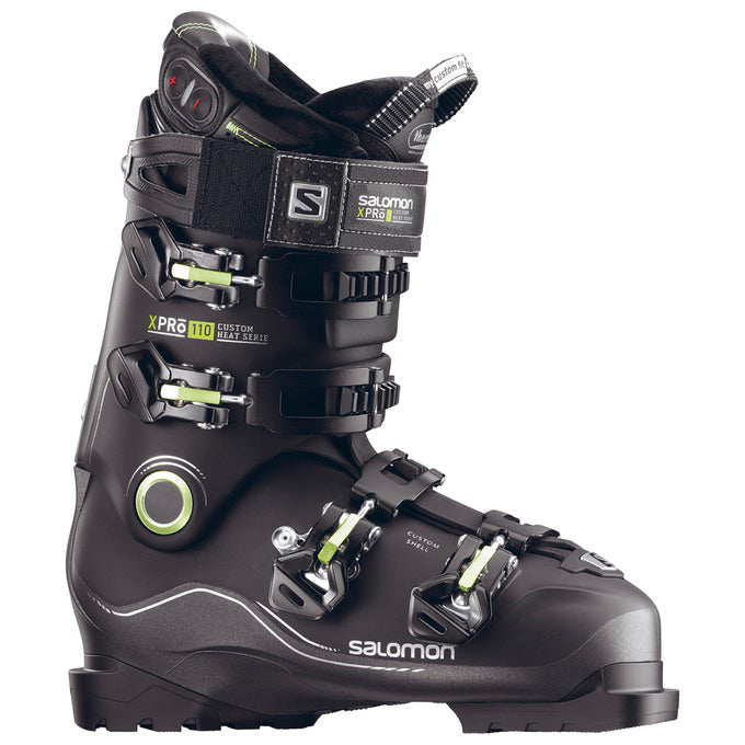 Salomon X Pro Custom Heat Mens Boots - Black/ Metallic Black/Acid Green