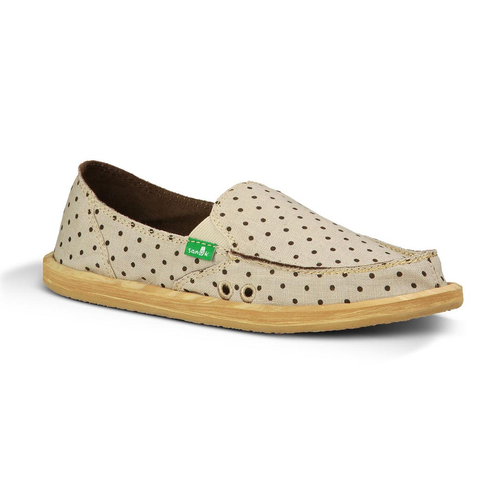Sanuk Hot Dotty Natural Brown