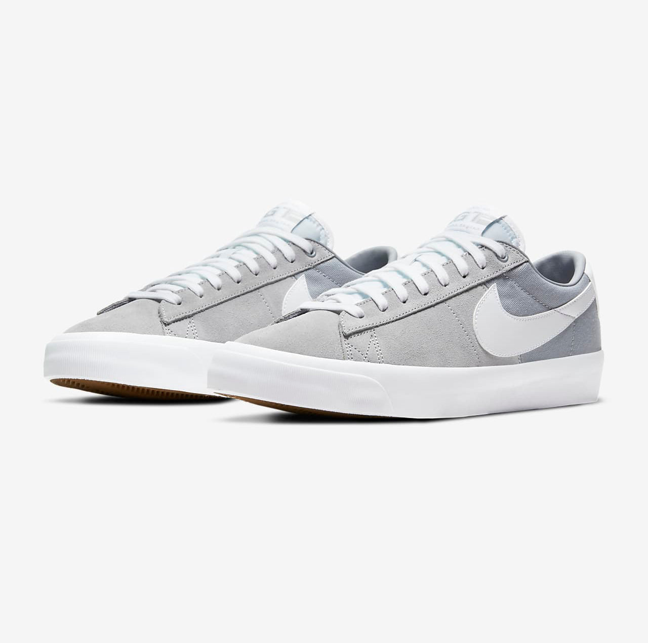 Nike SB Zoom Blazer Low Pro GT Mens Shoes - Wolf Grey/Wolf Grey/White/White