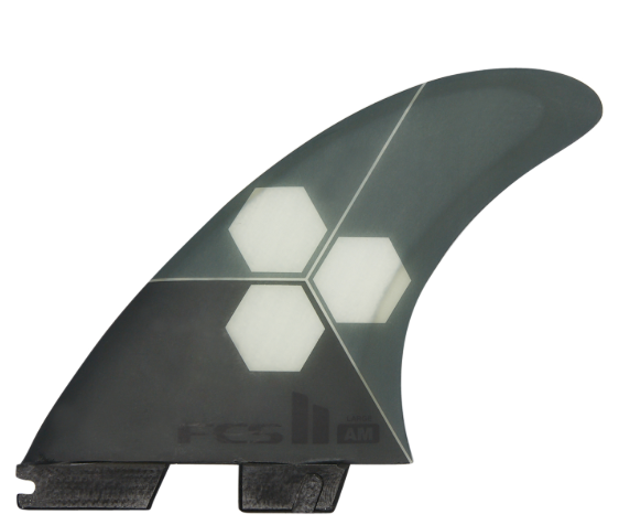 FCS II AM PC Grey Tri-Quad Fin - Medium