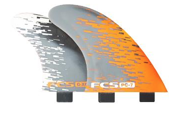 FCS PC-7 Orange Smoke Tri-Quad Fins - MEMBERS PRICE