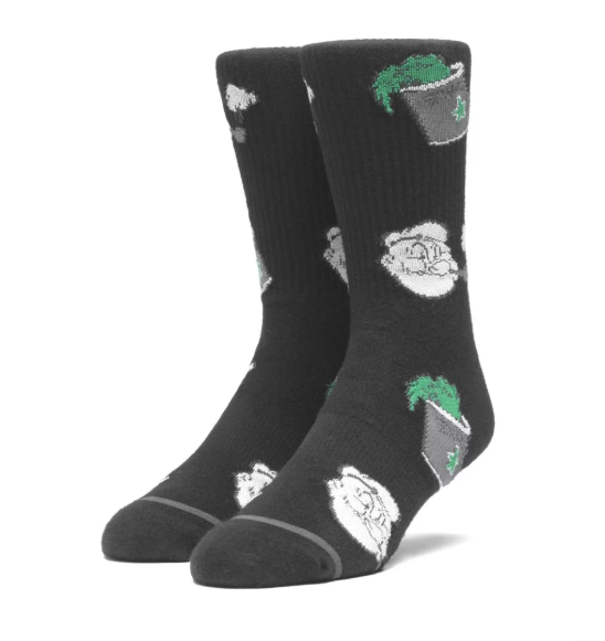 Huf x Popeye Spinach Socks - Black