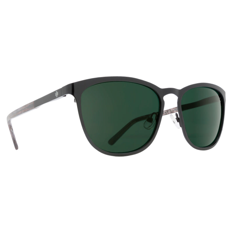 Spy Cliffside Marble Black Sunglasses - Happy Grey Green