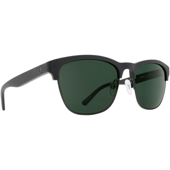 Spy Loma Matte Black Sunglasses - Happy Grey Green