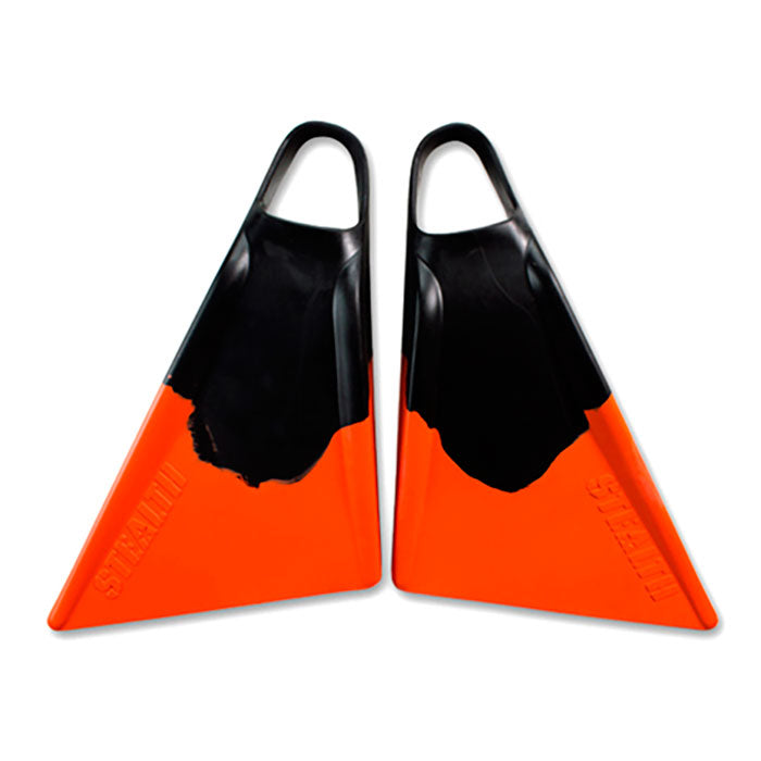 Stealth S2 Fins - Black Orange