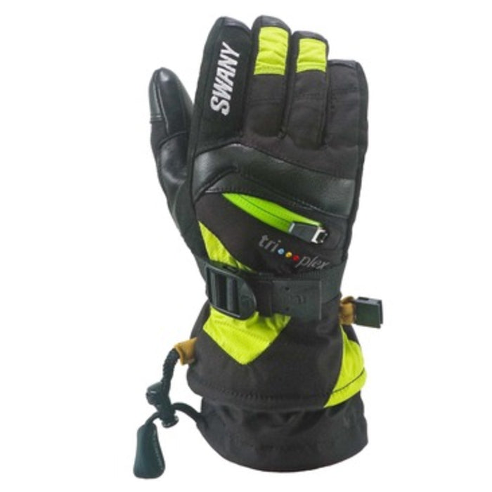 Swany X-Change Junior Glove - Black/Lime