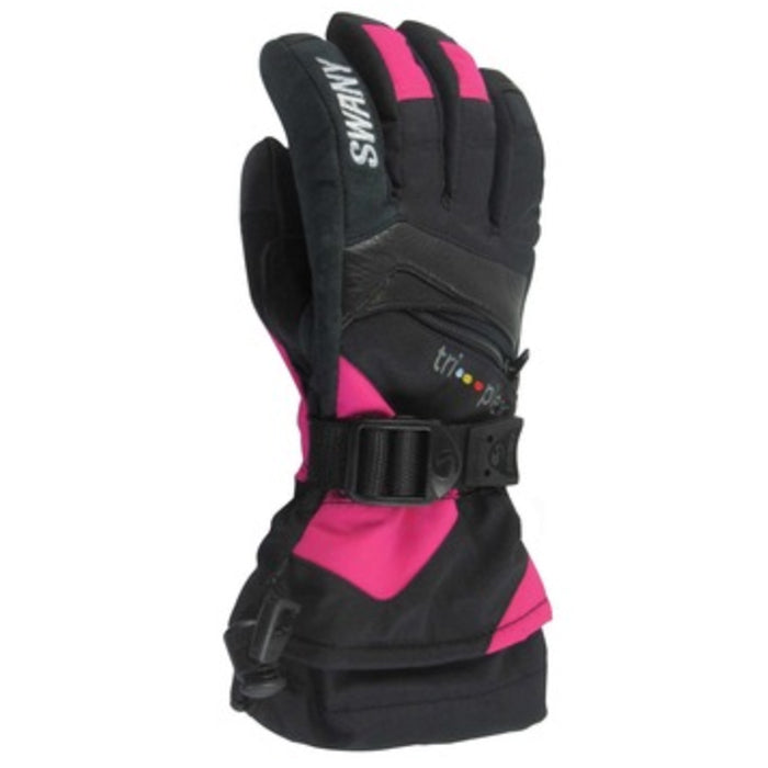 Swany X-Change Junior Glove - Black/Magenta