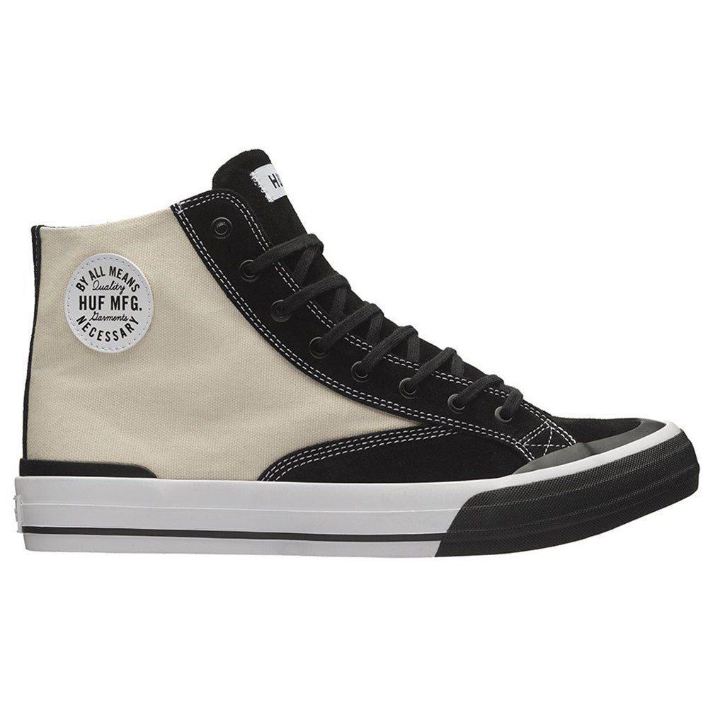 HUF Classic Hi Vintage Shoes Mens - White/Black
