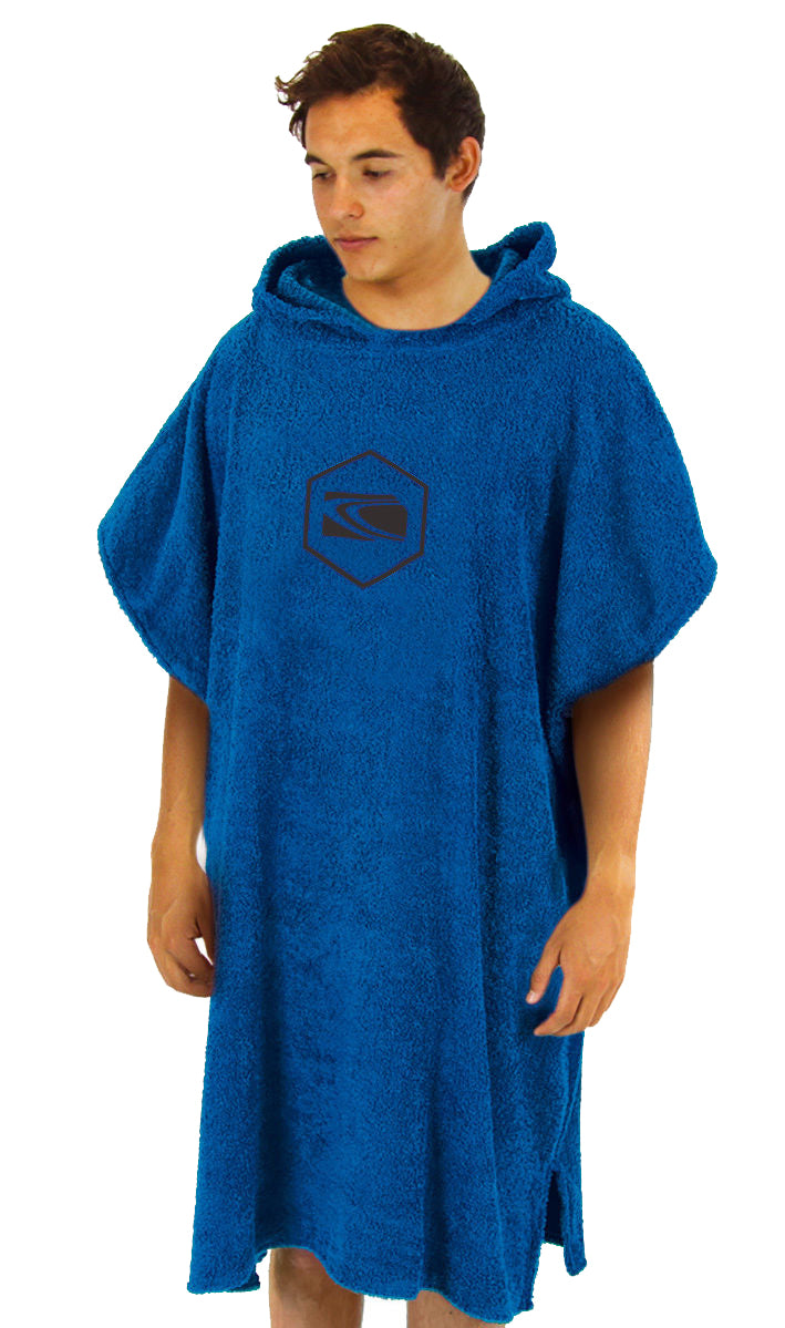 Carve Radiator Beach Poncho Towel - Royal