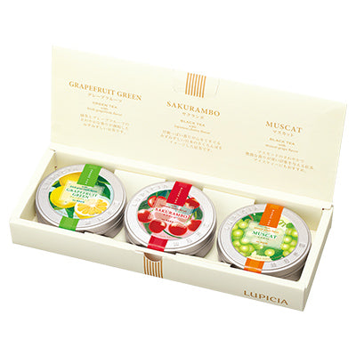 FRUIT FLAVOR PETIT 3-TIN TEA BAG SET