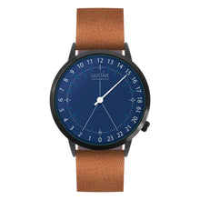Load image into Gallery viewer, Gustave Montre 24H Blue - Brown Leather