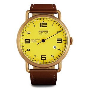 Ferro & Company One Hand Watch Copper Case Automatic