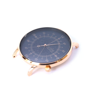 Gustave Montre Louis Blue & Gold Rose - Rose Gold Milan