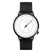 Load image into Gallery viewer, Gustave Montre 24H White - Black Leather