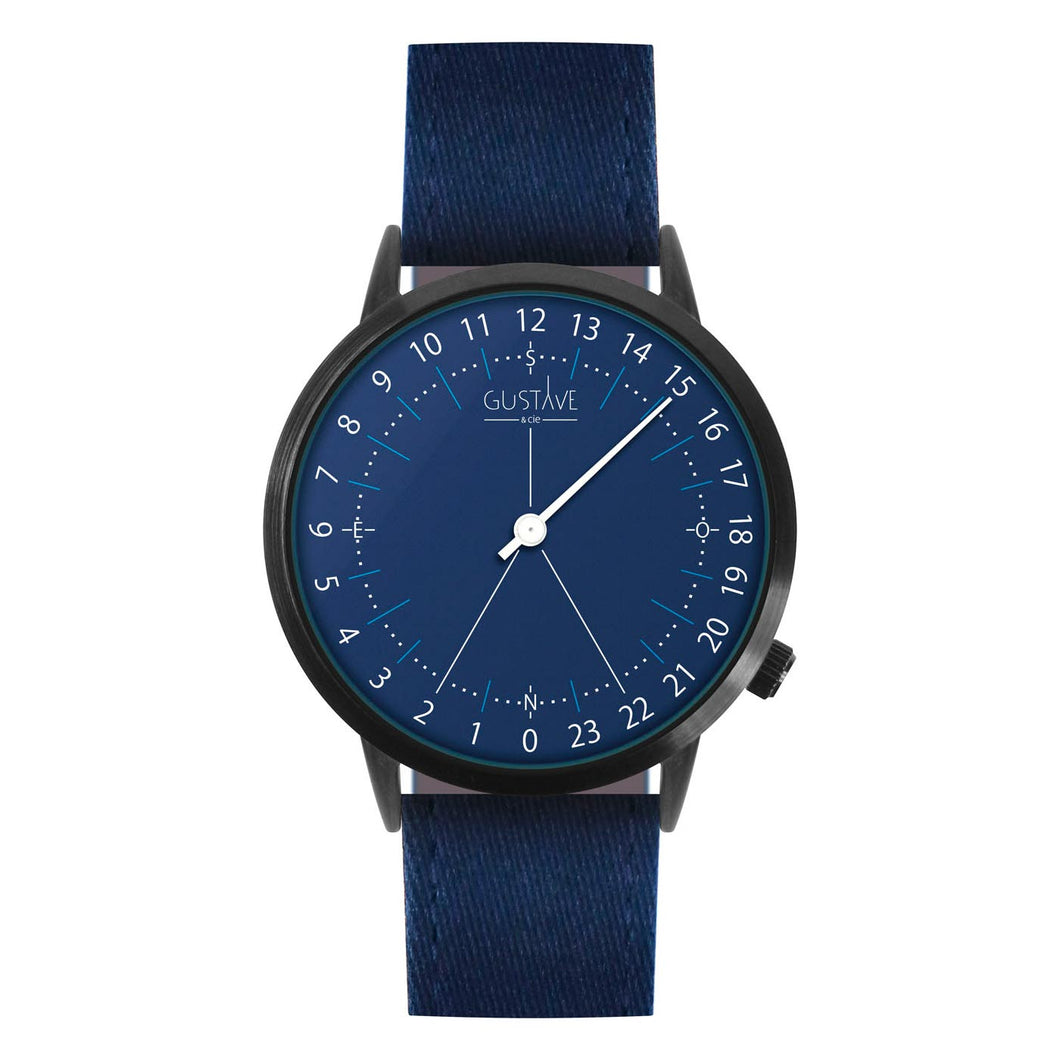 Gustave Montre 24H Blue - Blue Fabric