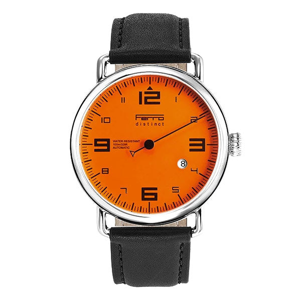 Ferro & Company One Hand Watch Orange Dial Quartz