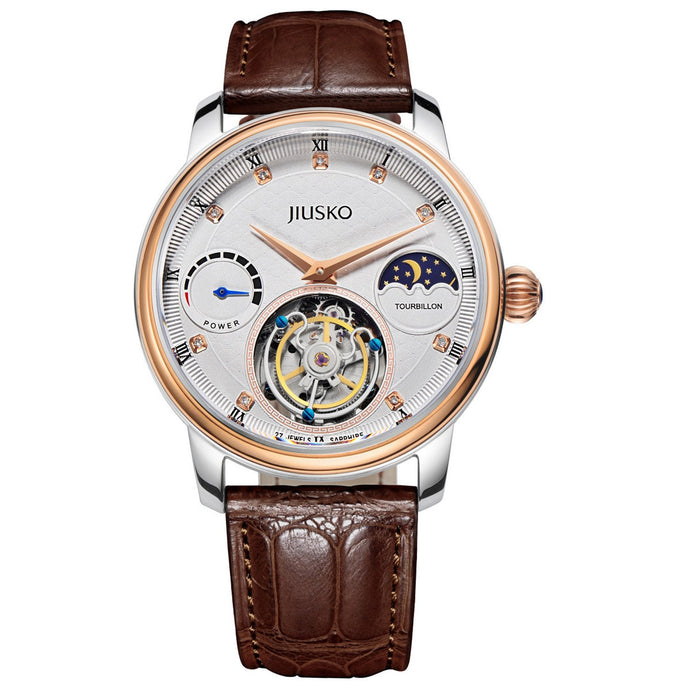 Jiusko The One - Men's, Dress, Tourbillon, Alligator-Leather, 100M, 168LSRG0117