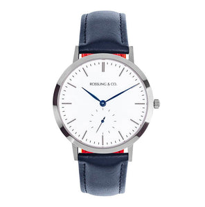 Rossling & Co. Modern 36 mm - Silver / Leather