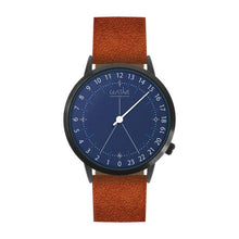 Load image into Gallery viewer, Gustave Montre 24H Blue - Brown Nubuck Leather