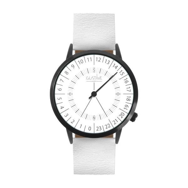 Gustave Montre 24H White - White Leather