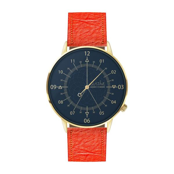 Gustave Montre Louis Blue & Gold - Coral Pineapple Fiber