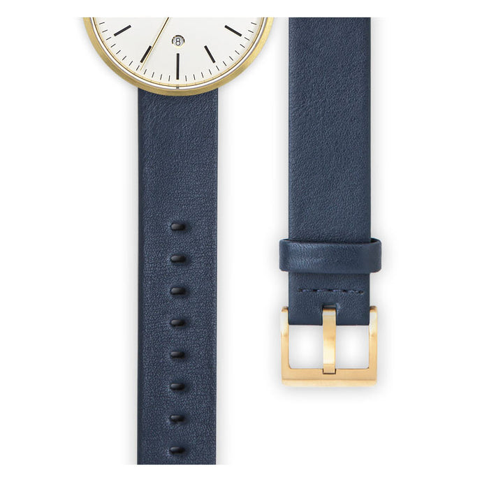 Blue nappa calf leather watch strap | Ackurat