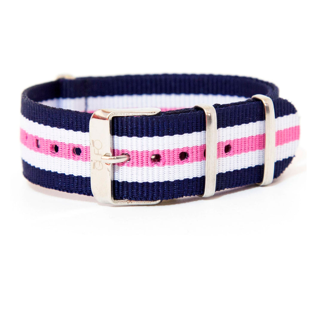 Leisure Blu White Pink Strap | Gufo