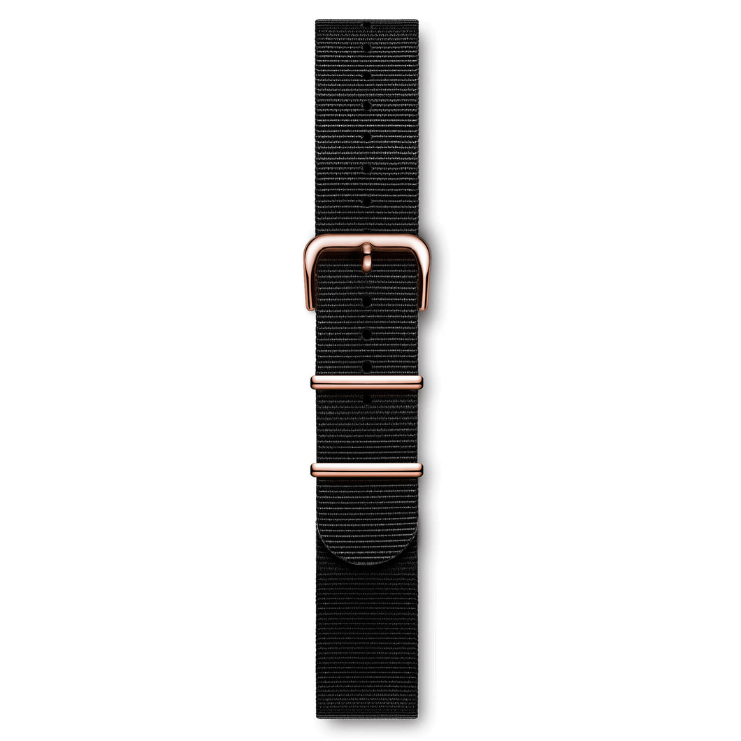Nylon Nato Strap Black Rose Buckle | Björn Hendal