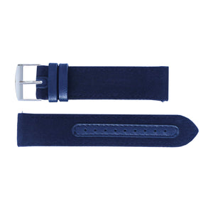 Watch strap blue fabric | Gustave & cie