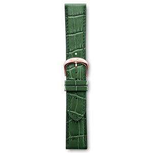 Italian Leather Strap Crocodile Green Rose Buckle | Björn Hendal