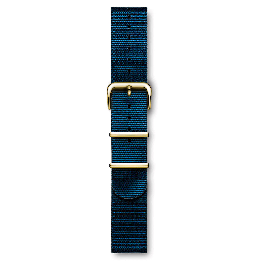 Nato Strap Navy Blue Yellow Buckle | Björn Hendal