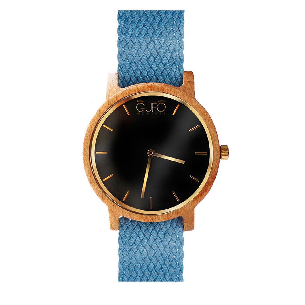 Gufo Black Moments Braided Soft Blue