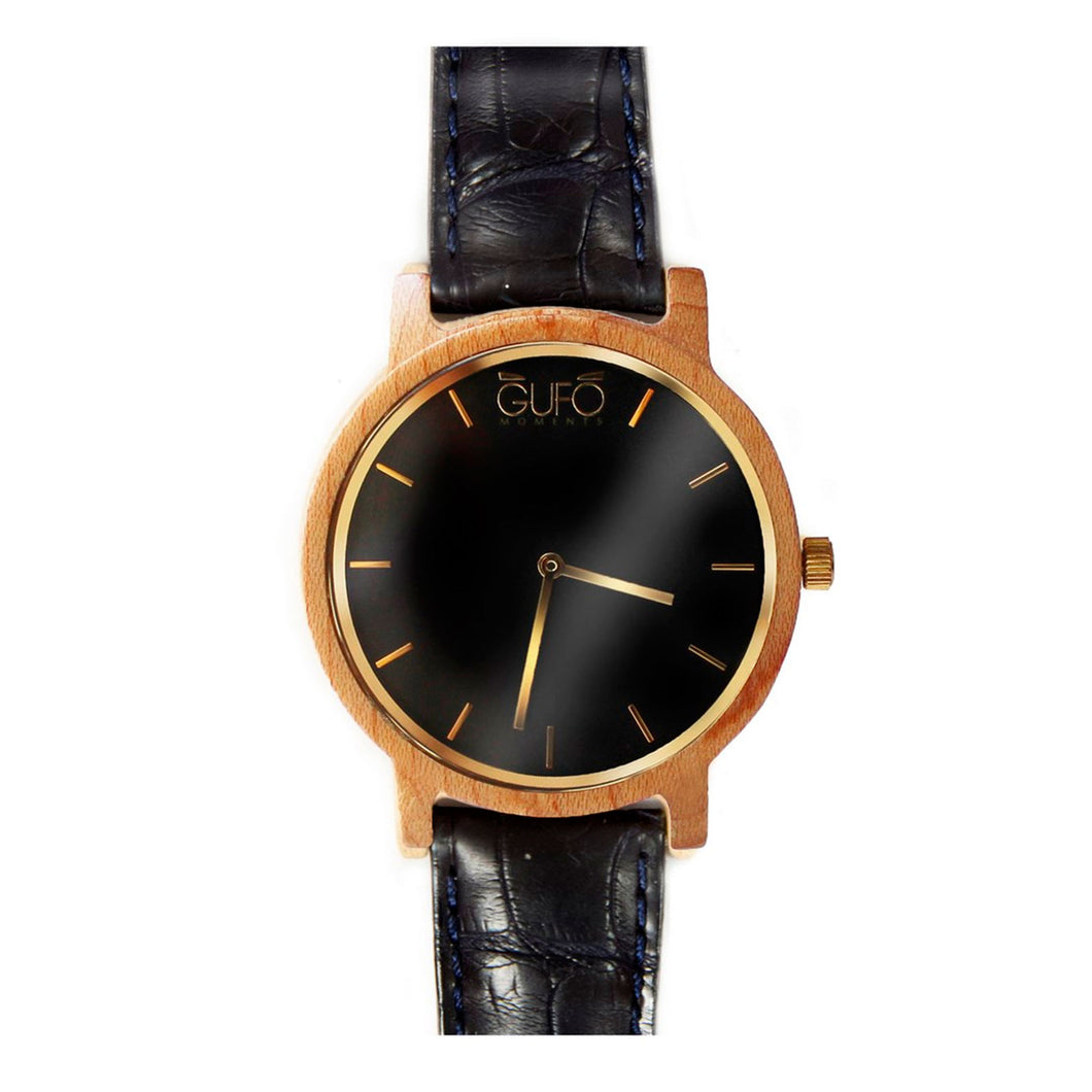 Gufo Black Moments Croco Black
