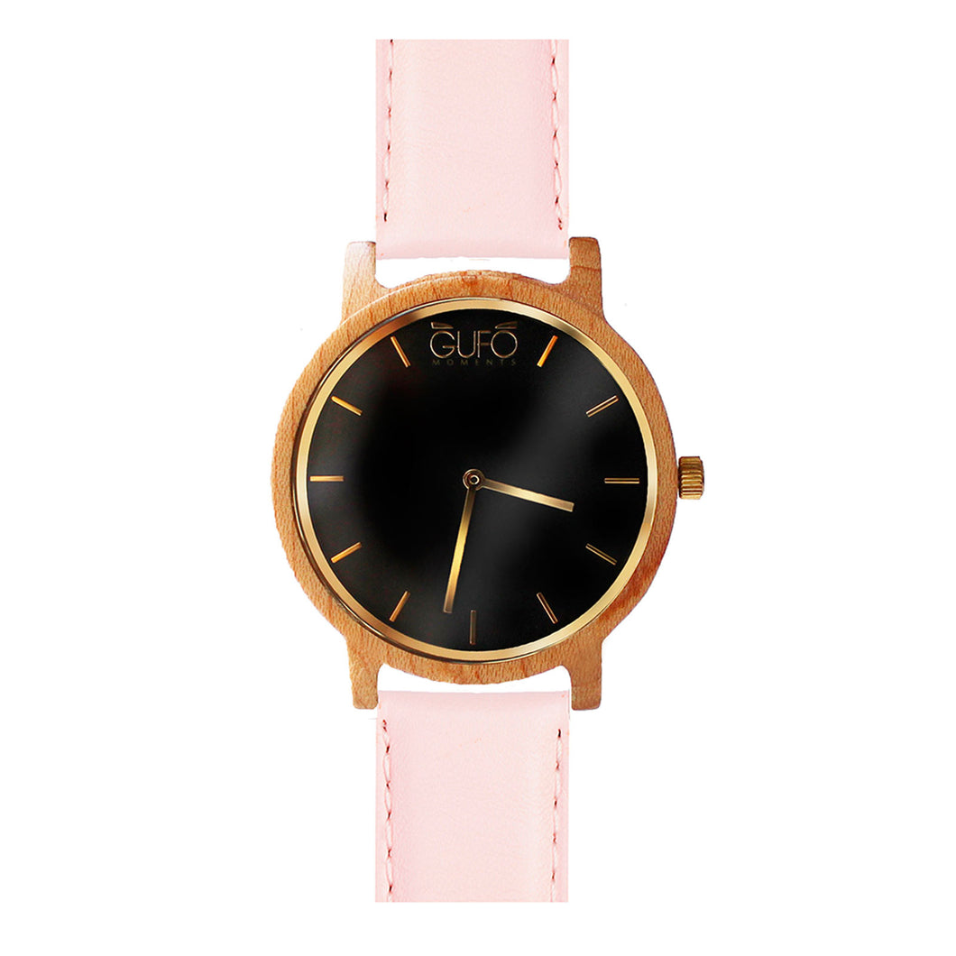 Gufo Black Moments Leather Rose