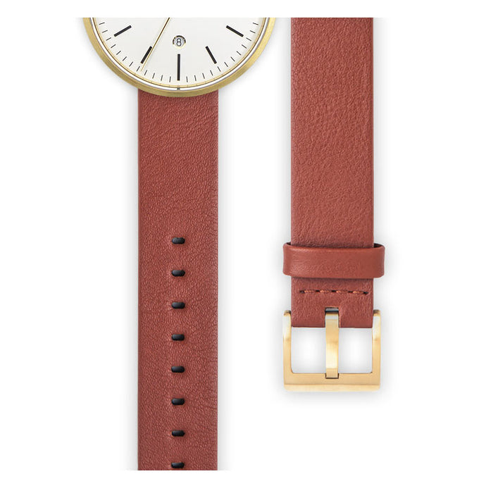 Tan nappa calf leather watch strap | Ackurat