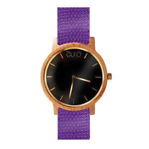Gufo Black Moments Braided Purple