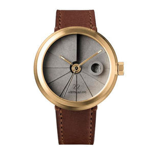 22Studio 4D Concrete Watch Automatic Minimal Edition Brass Look